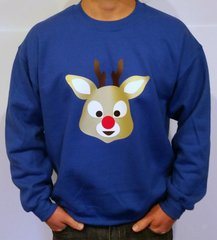 Red Nose Reindeer - WASHABLE UGLY CHRISTMAS SWEATER