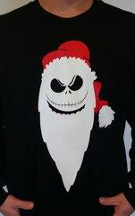 SKELETON SANTA - JACK - THE PUMPKIN KING - WASHABLE UGLY CHRISTMAS SWEATER