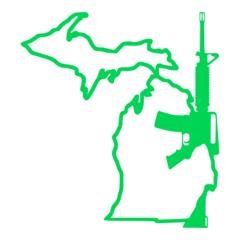 Michigan Gun AR-15 Vinyl Car Decal