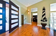 Light house with swirl on rocks Wall Decal