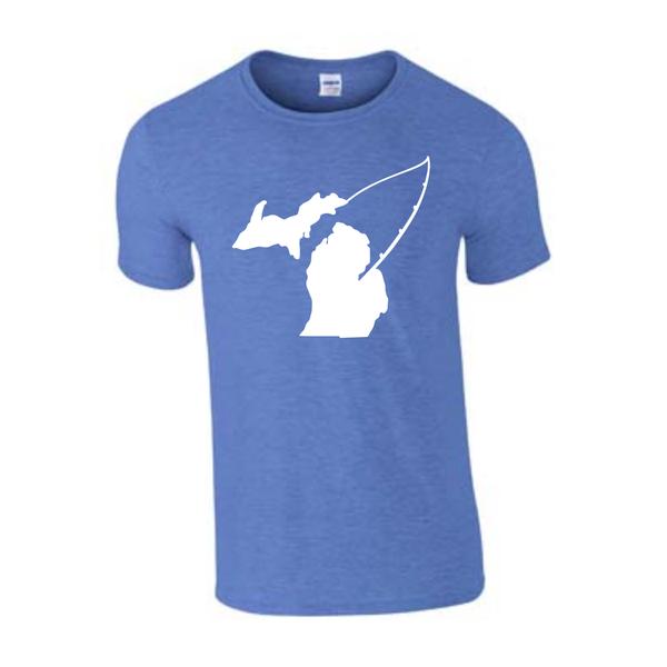 Michigan Fishing T-Shirt - Michigan Fishing - Michigan Shirt - Fish Michigan - Michigan Pride - MADE IN THE USA!