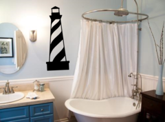 Light house with swirl Wall Decal