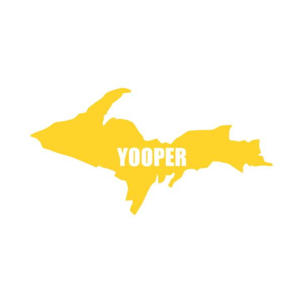 Michigan Upper Peninsula Yooper Vinyl Car Decal Michigan
