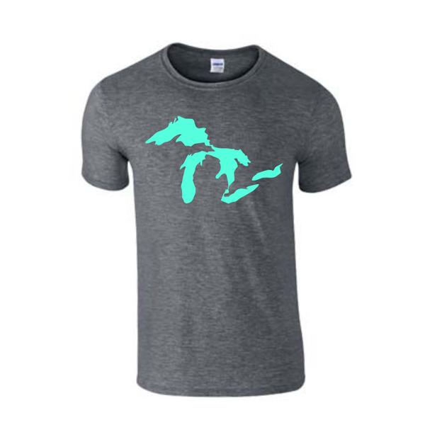 Great Lakes T-Shirt - Great Lakes - Michigan Shirt - Michigan Great Lakes - Michigan Pride - MADE IN THE USA!