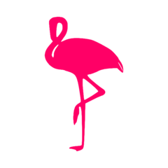 Flamingo Vinyl Car Decal