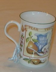 Pear/cream mug