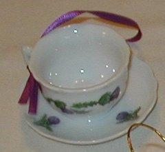 Mini Ornaments Thistle Tea cup