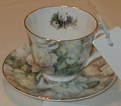 White Rose Cup and Saucer