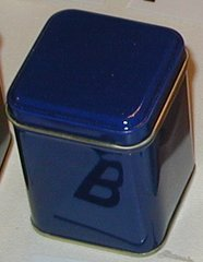 100 gram square tin Blue