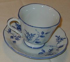 Blue On the Vine cup and saucer