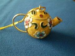 Mini Tea Pot Ornament Yellow