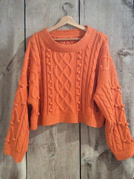 Orange knit sweater | franciswest