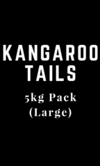 """Kangaroo Meaty Tail Bones"" 5kg Pack (Large)"