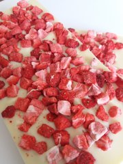 Strawberry Infused White Chocolate Bar - 100g