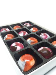 Luxury Rose and Violet Fondant Chocolates - Box of 12