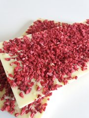Raspberry Infused White Chocolate Bar - 100g