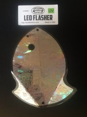 Large Leo Flasher UV Silver Frost
