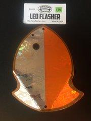 Large Leo Flasher UV Silver Frost on Orange