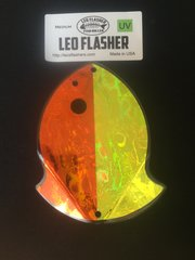 Medium Leo Flasher Orange Frost / Chartreuse Frost
