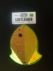 Medium Leo Flasher Crushed Pearl on Chartreuse