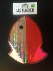 Large Leo Flasher UV Silver SnakeSkin on Pink