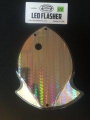 Large Leo Flasher UV Silver SnakeSkin