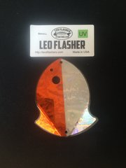 Small Leo Flasher Orange Frost / Silver Frost