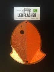 Medium Leo Flasher Crushed Pearl on Orange