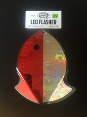 Large Leo Flasher Red Frost / Silver