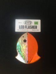 Small Leo Flasher Silver Frost on Orange