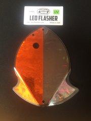 Large Leo Flasher Orange Frost / Black