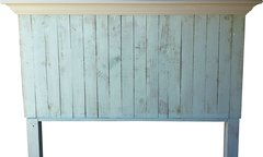 Pallet Wood Headboard with Crown Molding Shelf - queen or full size