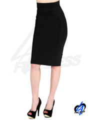 High Waist Bandage Pencil Skirt - Black