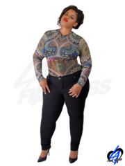 Tattoo Bodysuit (Plus Size)