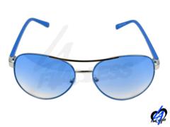 Aviator Sunglasses w/Blue Lens & Matching Frames