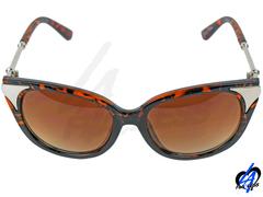 Cat Eye Women Sunglasses - Leopard/Silver