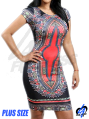 Tribal Midi Dress (Plus Size)