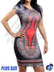 Tribal Midi Dress (Plus Size)