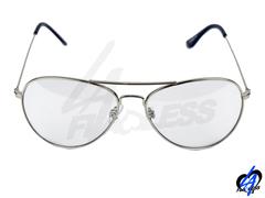 Classic Aviators Sunglasses - Silver/Crystal