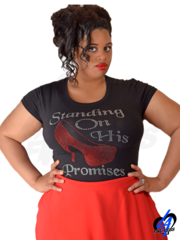 """Standing On His Promises"" (Plus Size) T-Shirt"