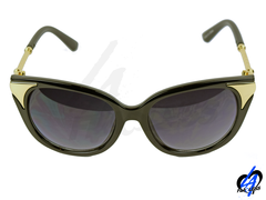 Cat Eye Women Sunglasses - Black/Gold