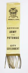 Army Of The Potomac Reunion Ribbon