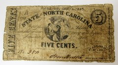 North Carolina Five Cent Note