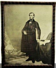 Full Length Portrait Engraving of Lincoln