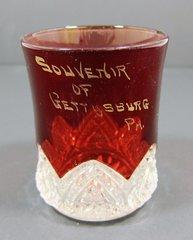 Gettysburg Souvenir Ruby Flash Cup