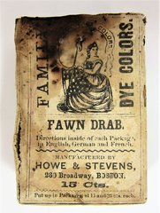 Civil War 1863 Dated Fabric Dye