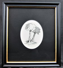 Pen and Ink Palmetto Tree, by Samuel Prescott, New Hampshire Volunteers