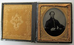 Outstanding Early War Image Ambrotype Sixth Plate