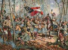 Framed Men of Arkansas - Battle of Shiloh By Don Troiani