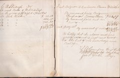 Military Fund Ledger Book for the First Brigade, 14th Division of the Pennsylvania Militia
